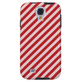 [STR-RD-1] Red and white candy cane striped Galaxy S4 Case