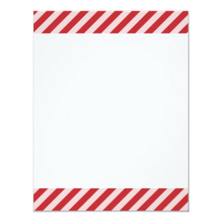 [STR-RD-1] Red and white candy cane striped 4.25x5.5 Paper Invitation Card
