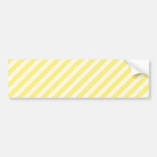 [STR-YE-1] Yellow and white candy cane striped Bumper Sticker