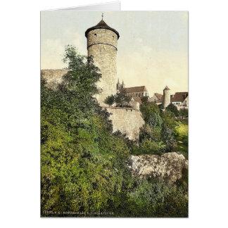 Straft Tower, Rothenburg (i.e. ob der Tauber), Bav Greeting Card