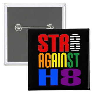 Straight Against Hate LGBT Ally 15 Cm Square Badge