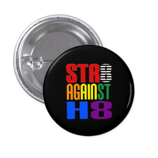 Straight Against Hate LGBT Ally Round 3 Cm Round Badge