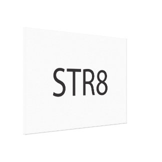 Straight ai stretched canvas print
