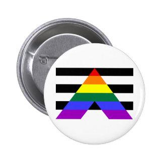 Straight Allies 6 Cm Round Badge