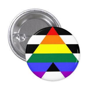 Straight Ally Flag Button