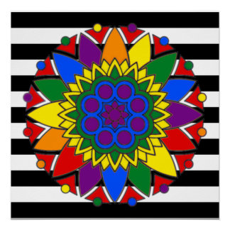 Straight Ally Flag Colors LGBT Supporter Mandala