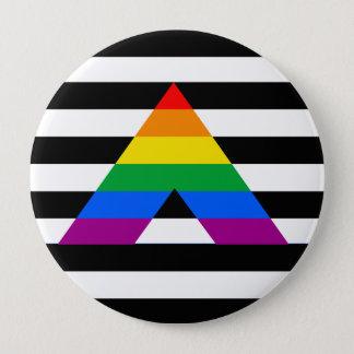 Straight Ally Pride 10 Cm Round Badge
