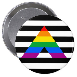 Straight Ally Pride 10 Cm Round Badge
