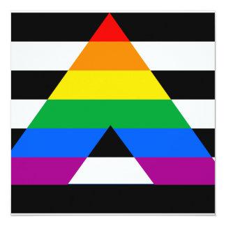 Straight Ally Pride 13 Cm X 13 Cm Square Invitation Card