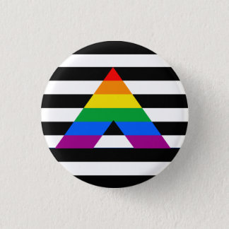 Straight Ally Pride 3 Cm Round Badge
