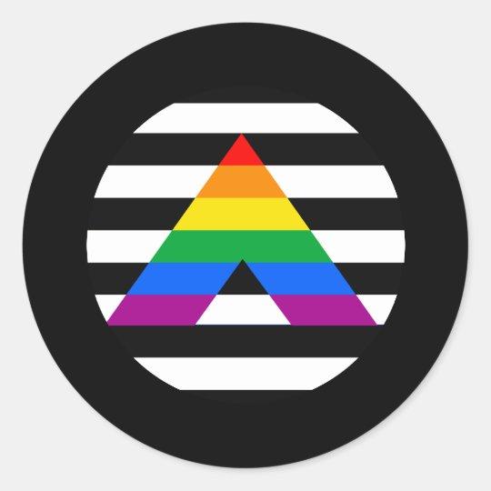 Straight Ally Pride Classic Round Sticker