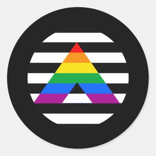 Straight Ally Pride Round Sticker