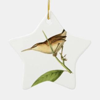 Straight-billed Wren Christmas Ornament