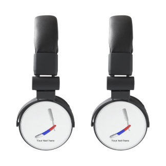 Straight Blade Cut Throat Razor Red White And Blue Headphones