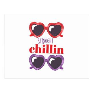 Straight Chillin Postcard