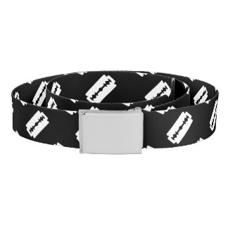 Straight Edge Razor Blade Pattern Belt