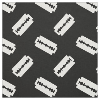 Straight Edge Razor Blade Patterned Black Fabric