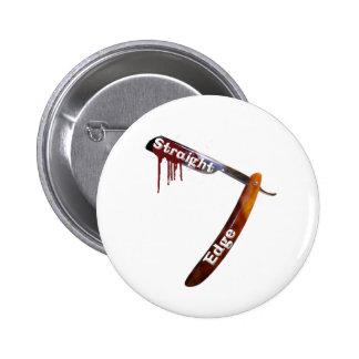 Straight Edge Straight Razor 6 Cm Round Badge