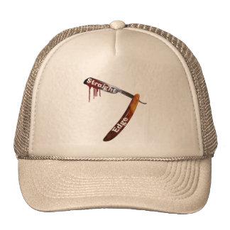 Straight Edge Straight Razor Mesh Hat
