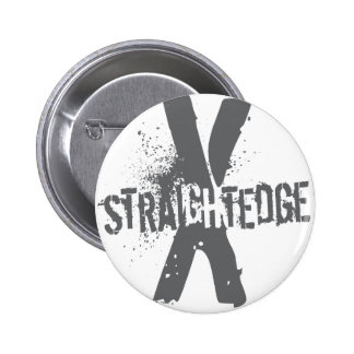 Straight Edge X dark grey 6 Cm Round Badge