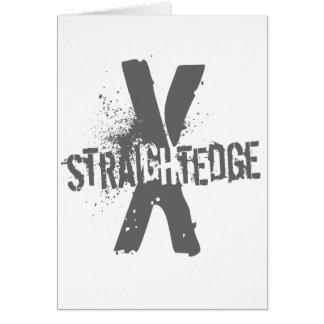 Straight Edge X dark grey Card