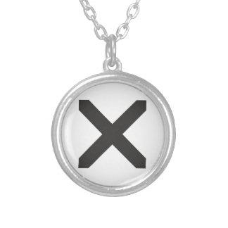 Straight Edge X Custom Necklace
