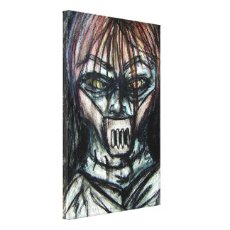 Straight Jacket Psycho Killer for Halloween Gallery Wrapped Canvas