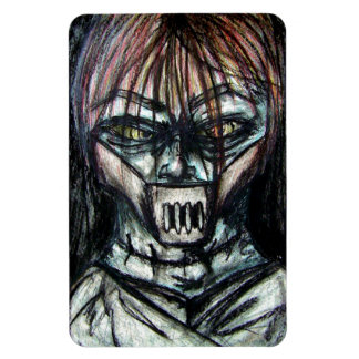 Straight Jacket Psycho Killer for Halloween Rectangular Photo Magnet