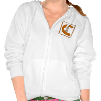Straight lines art deco with monogram, letter C Pullover
