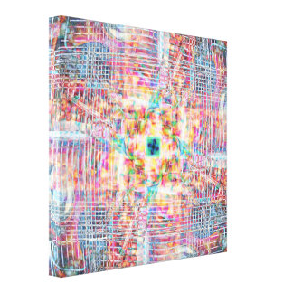 Straight LInes Stretched Canvas Print
