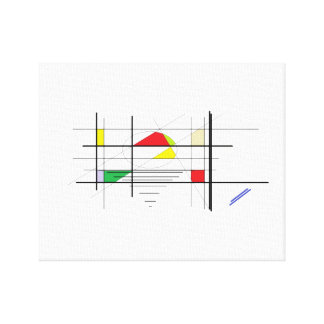 straight lines of colors canvas print