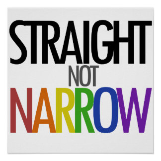 Straight not Narrow Posters