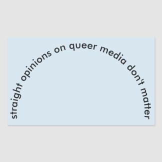 Straight Opinions Sticker
