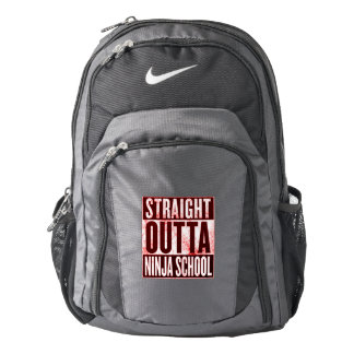 Straight Out of Ninja School Nike Backpack