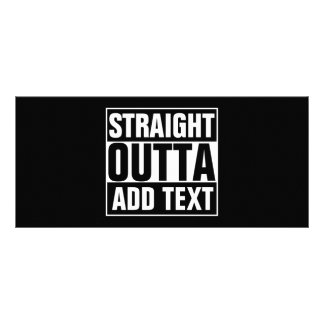STRAIGHT OUTTA - add your text here/create own Custom Rack Card