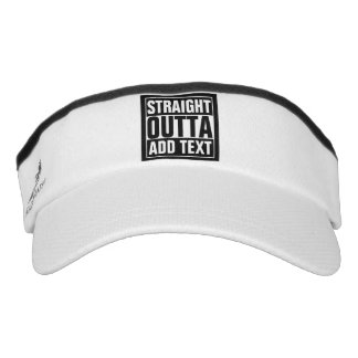 STRAIGHT OUTTA - add your text here/create own Visor