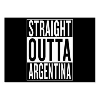 straight outta Argentina Pack Of Chubby Business Cards
