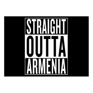 straight outta Armenia Pack Of Chubby Business Cards