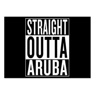 straight outta Aruba Pack Of Chubby Business Cards