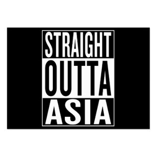 straight outta Asia Pack Of Chubby Business Cards