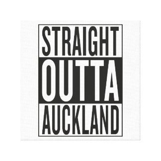 straight outta Auckland Stretched Canvas Print