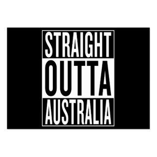 straight outta Australia Pack Of Chubby Business Cards