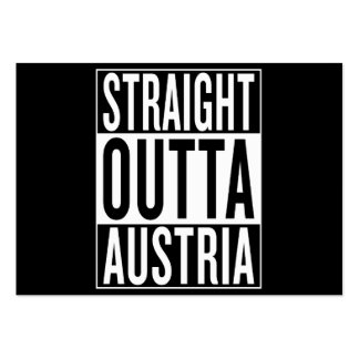 straight outta Austria Pack Of Chubby Business Cards