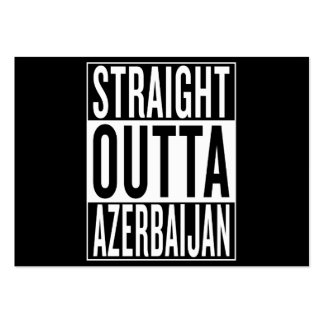 straight outta Azerbaijan Pack Of Chubby Business Cards