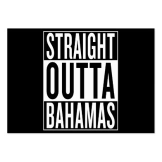straight outta Bahamas Pack Of Chubby Business Cards