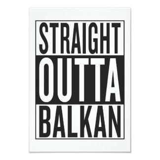 straight outta Balkan 9 Cm X 13 Cm Invitation Card