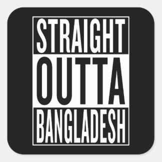 straight outta Bangladesh Square Sticker