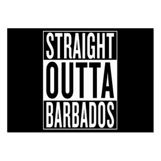 straight outta Barbados Pack Of Chubby Business Cards