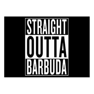 straight outta Barbuda Pack Of Chubby Business Cards