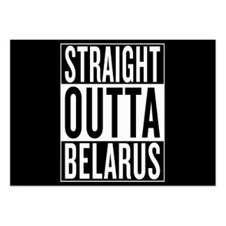 straight outta Belarus Pack Of Chubby Business Cards